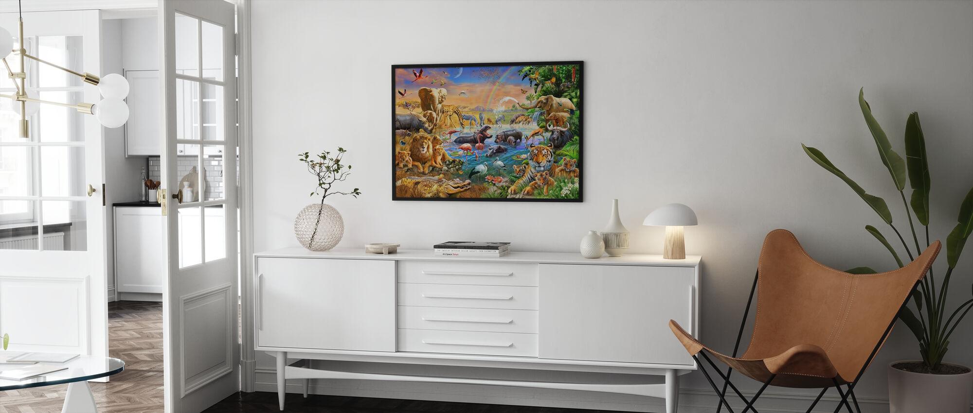 Savannah jungelen vannhull - Plakat - Stue