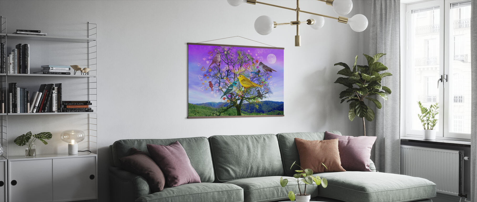 Tree of Happiness - Poster - Living Room