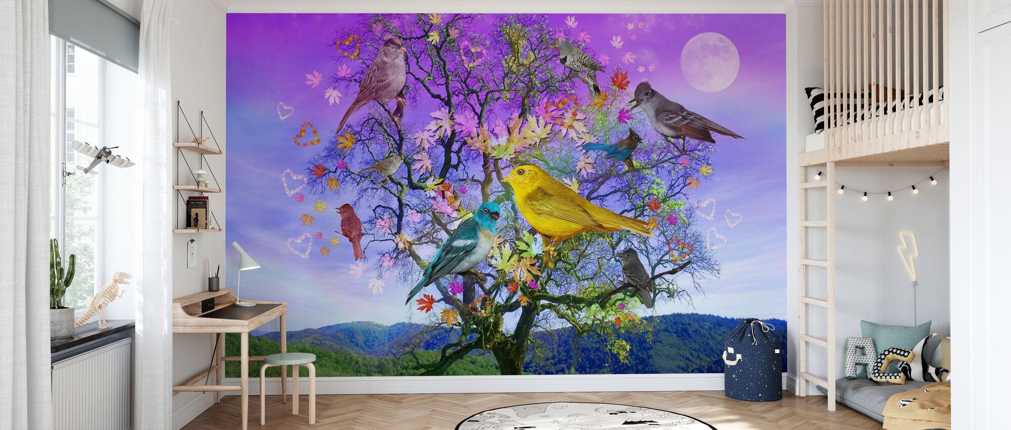 Baum des Glücks - Tapete - Kinderzimmer