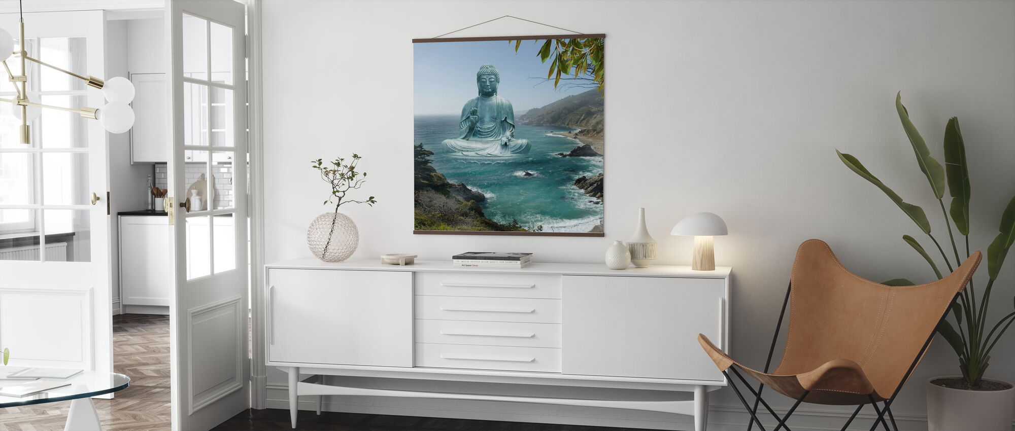 Big Sur Tea Garden Buddha - Poster - Living Room
