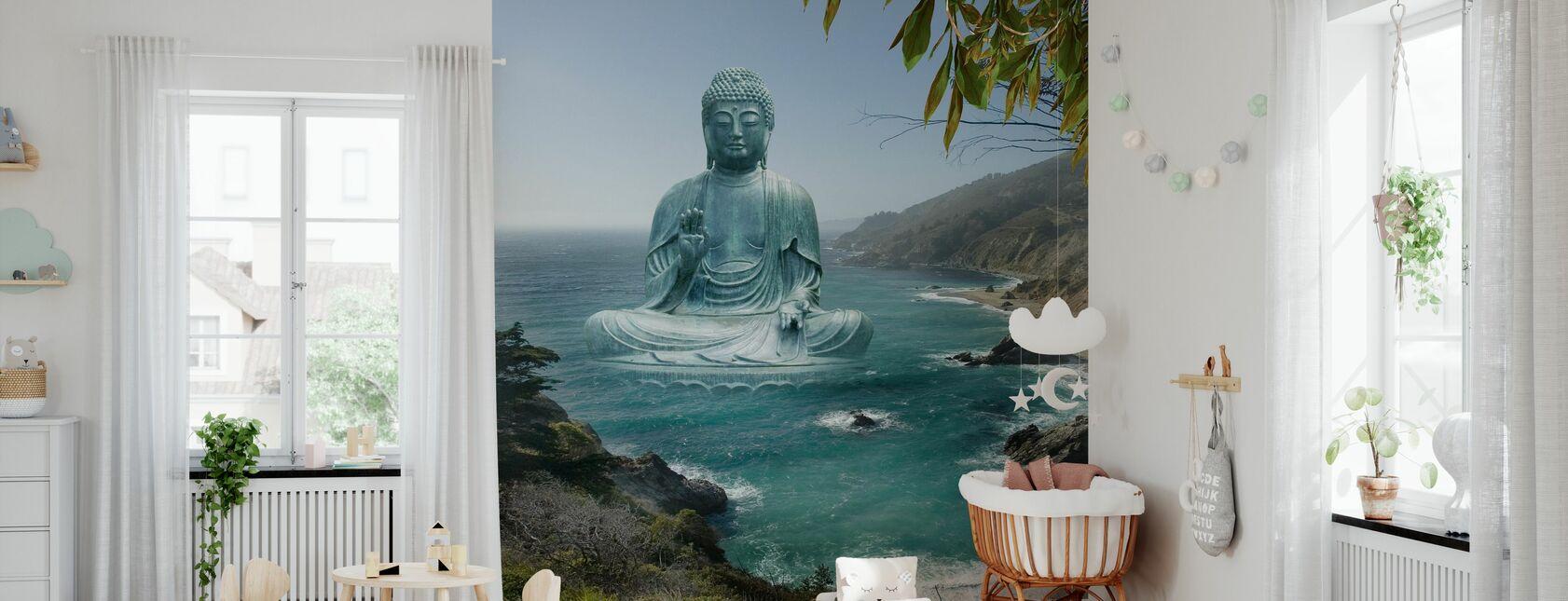 Iso Sur Tea Puutarha Buddha - Tapetti - Vauvan huone