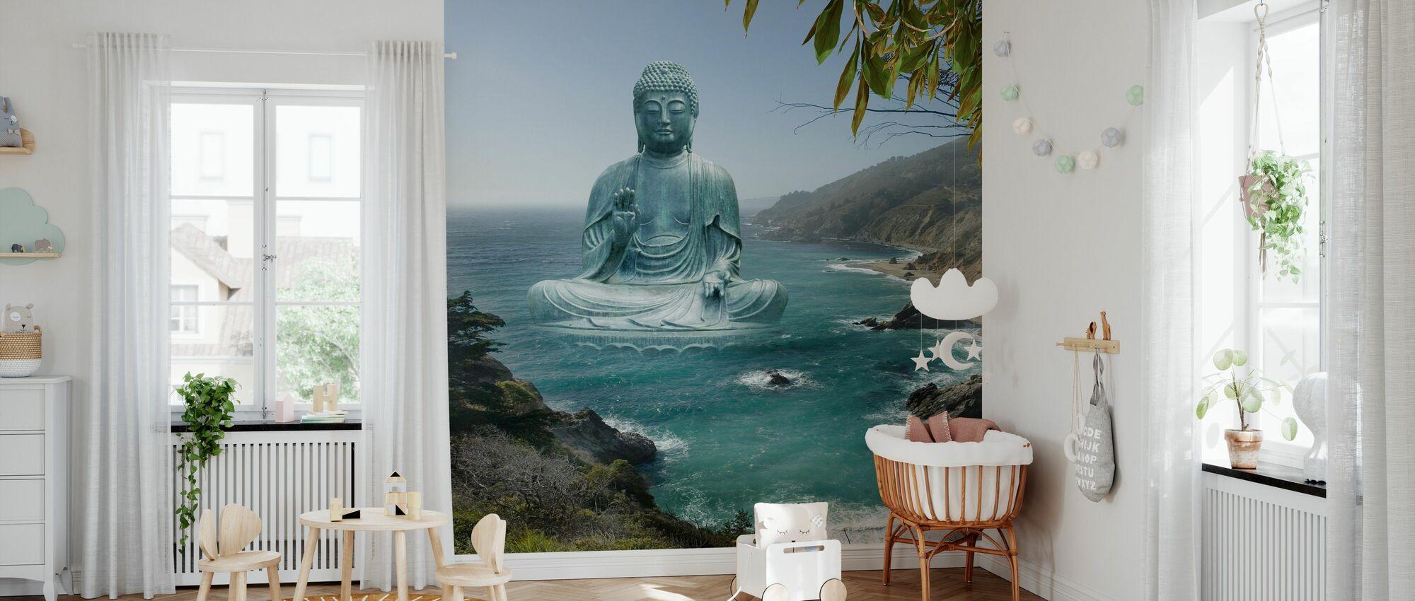 Store Sur te haven Buddha - Tapet - Babyværelse