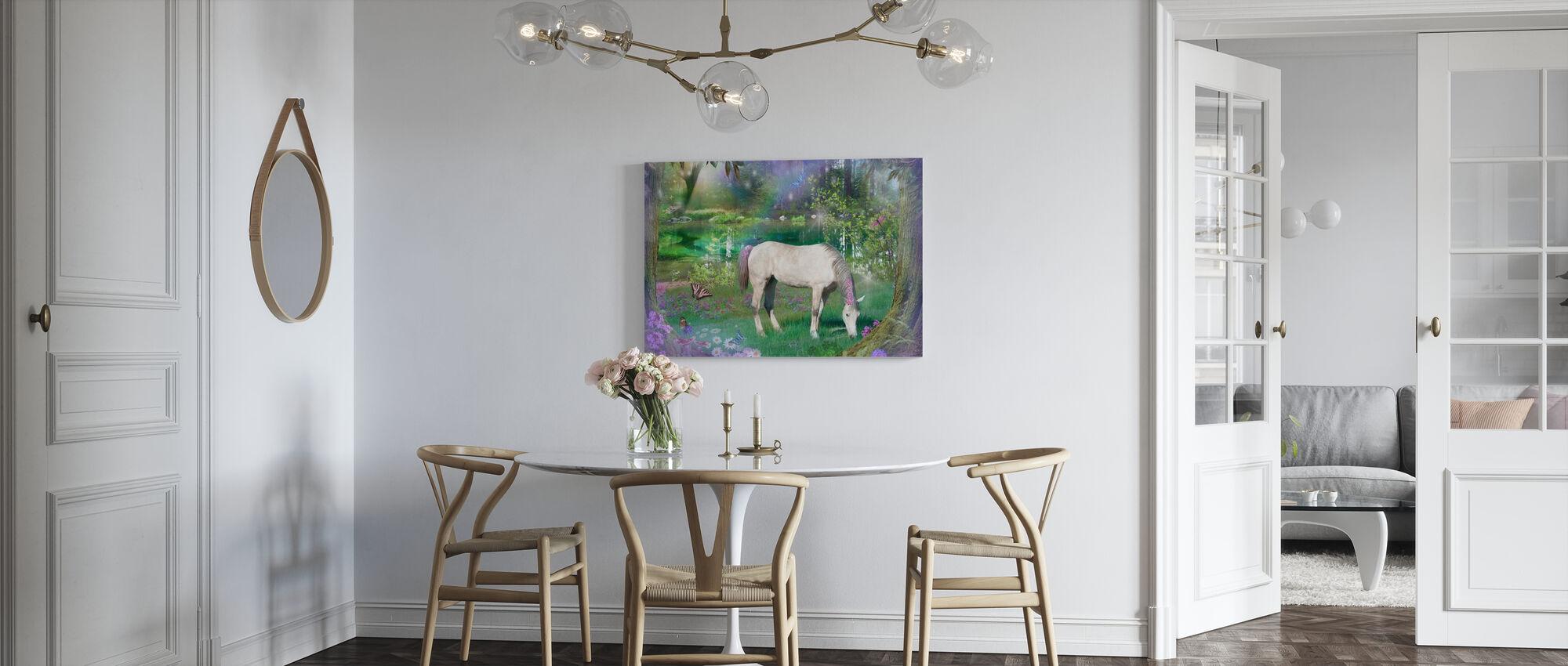 Emerald Unicorn - Canvas print - Kitchen