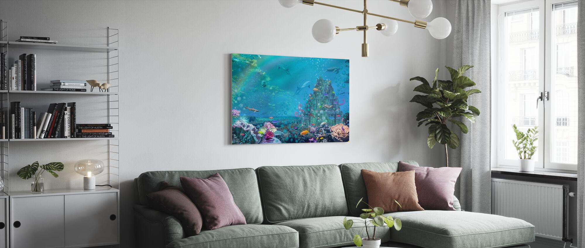 Underwater Castle - Canvas print - Living Room