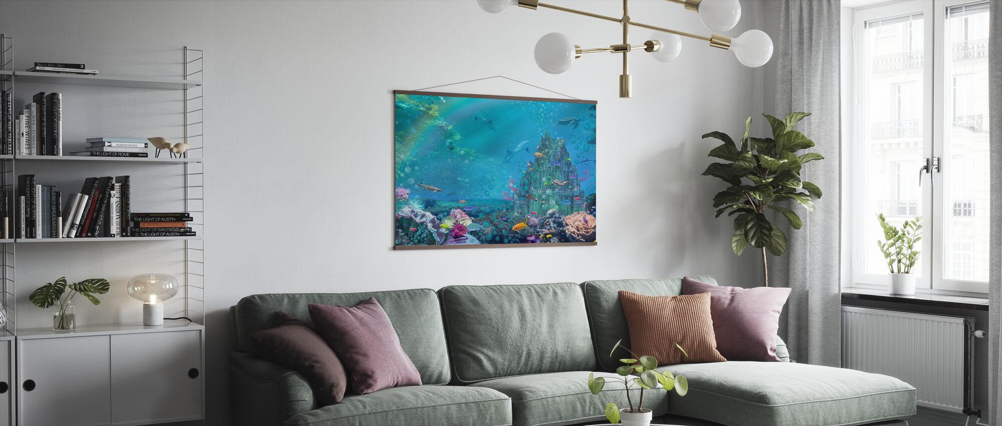 Onderwater kasteel - Poster - Woonkamer