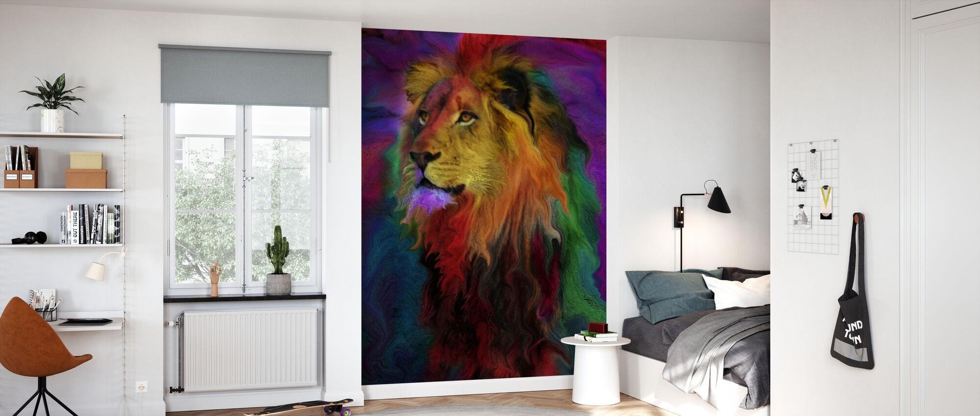 Rainbow løve - Tapet - Børneværelse