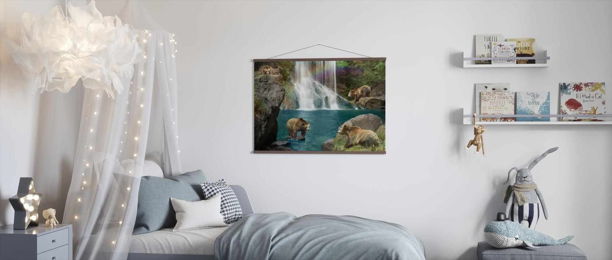 Bear Falls - Poster - Kids Room
