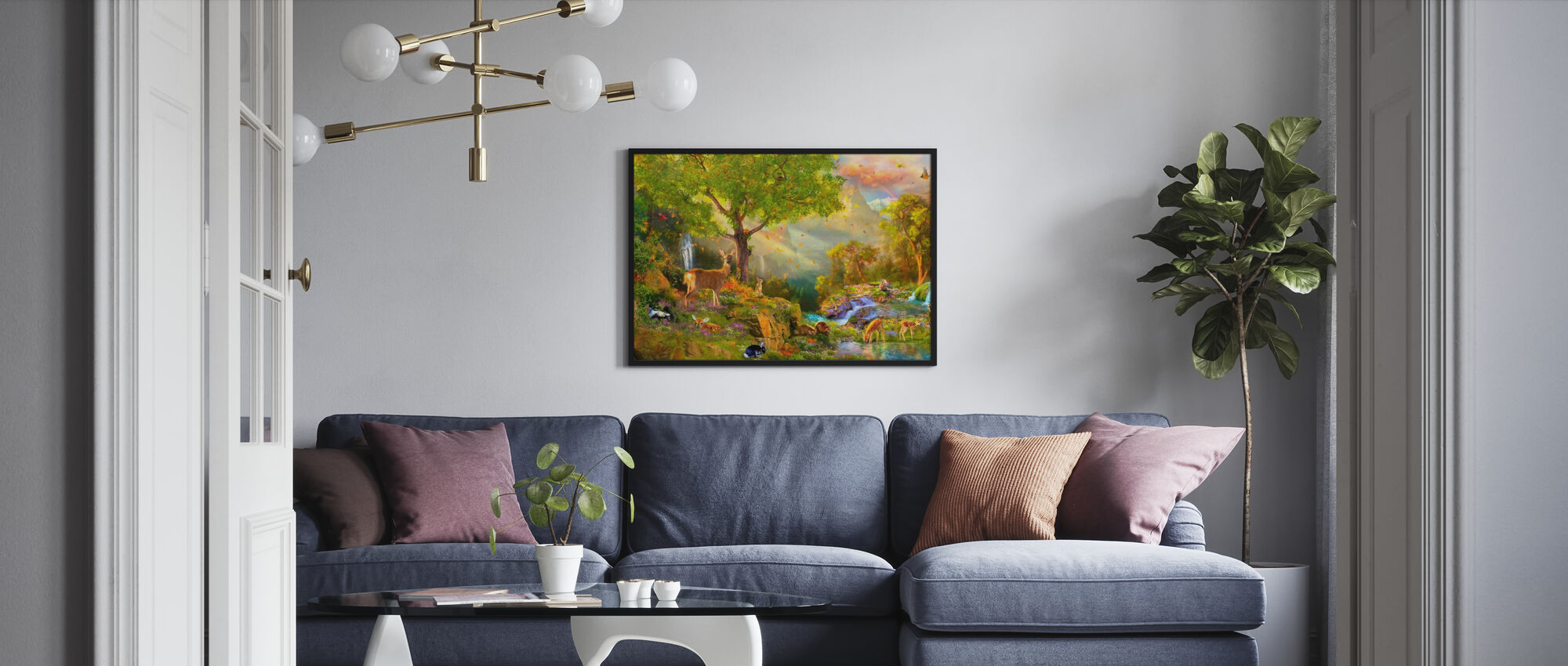 Fawn Mountain - Poster - Living Room
