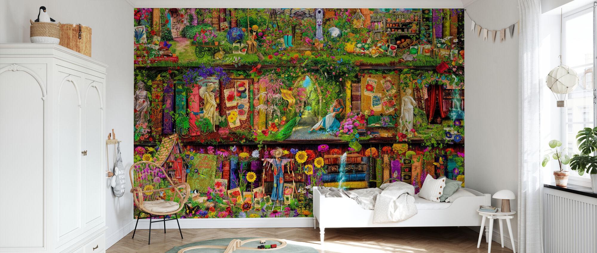 L'étagère de jardin - Papier peint - Chambre des enfants