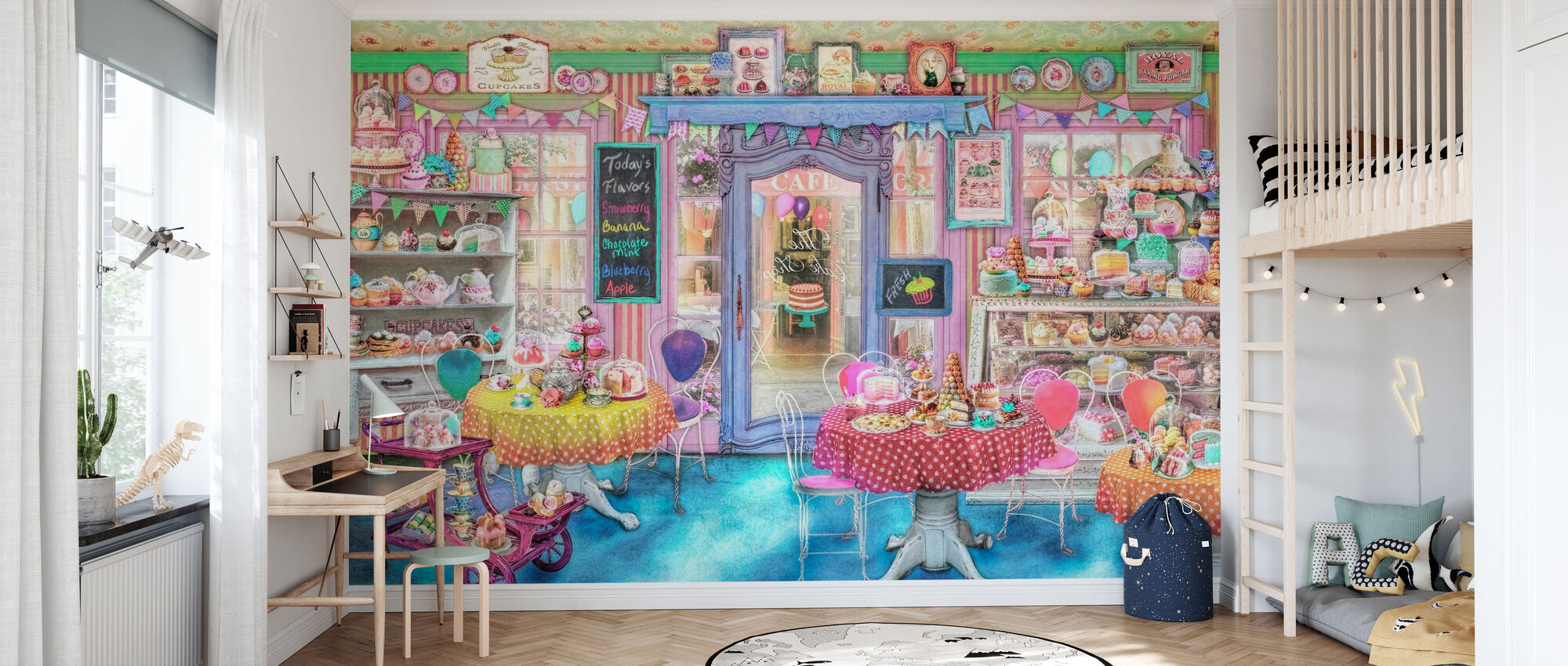 Vintage Cake Shop - Behang - Kinderkamer
