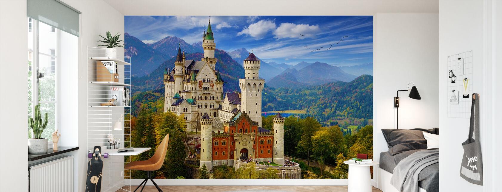 Schloss Neuschwanstein - Tapete - Kinderzimmer