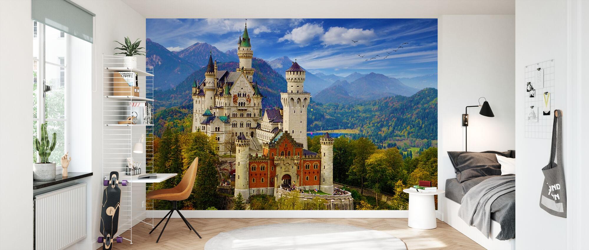 Neuschwanstein Castle - Wallpaper - Kids Room
