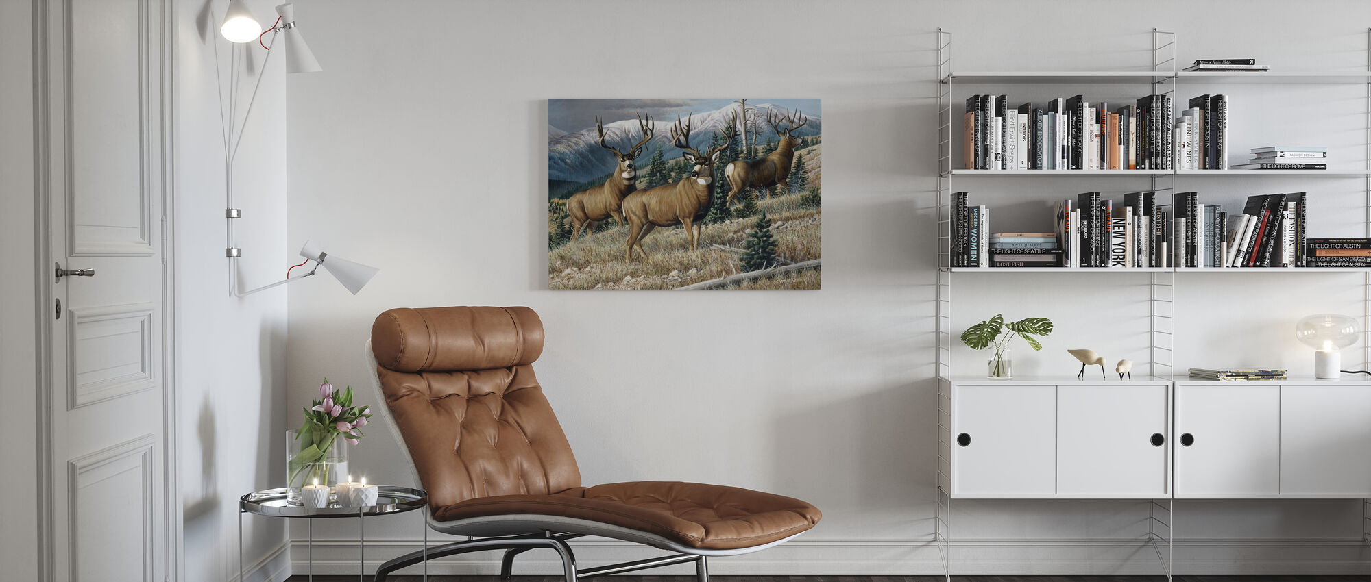Up the Mountain - Canvas print - Living Room