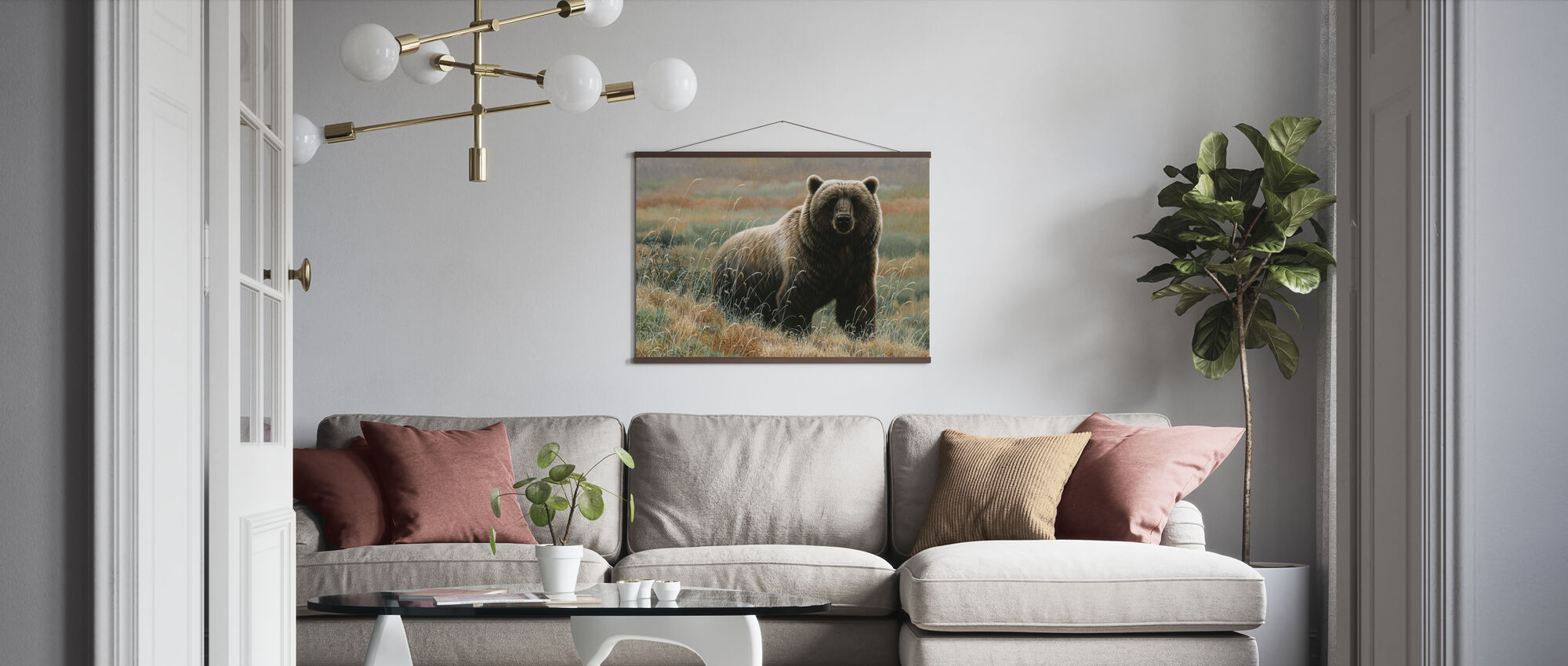 Grizzly on Tundra - Poster - Living Room