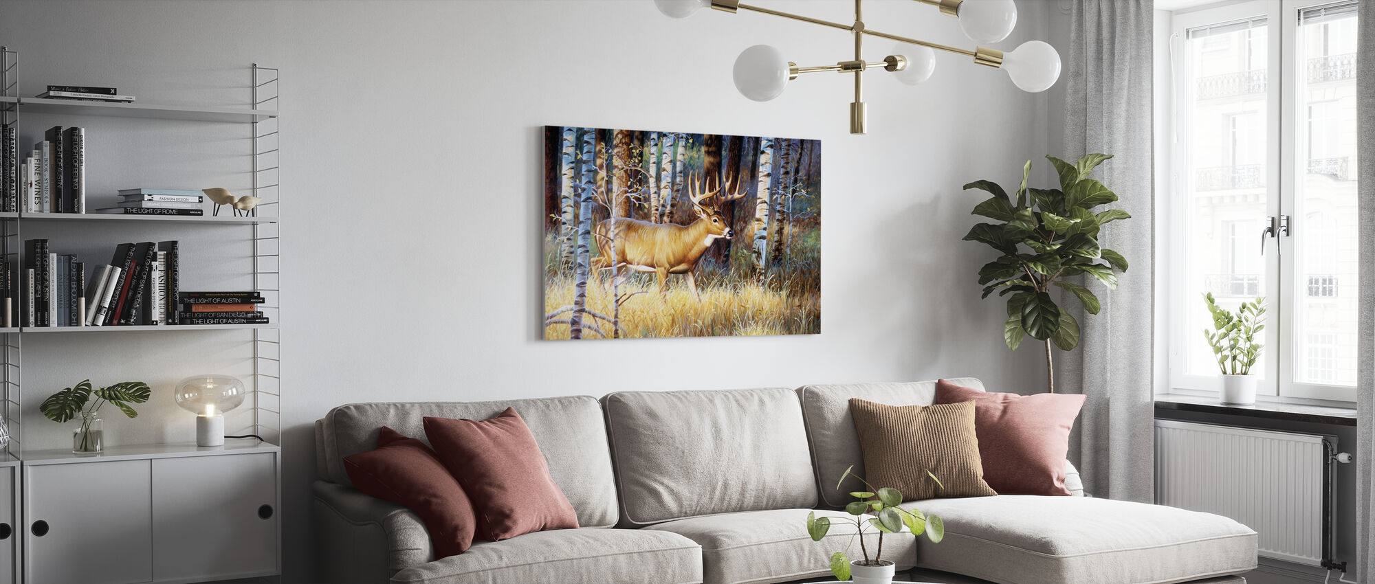 Single Whitetail - Canvas print - Living Room