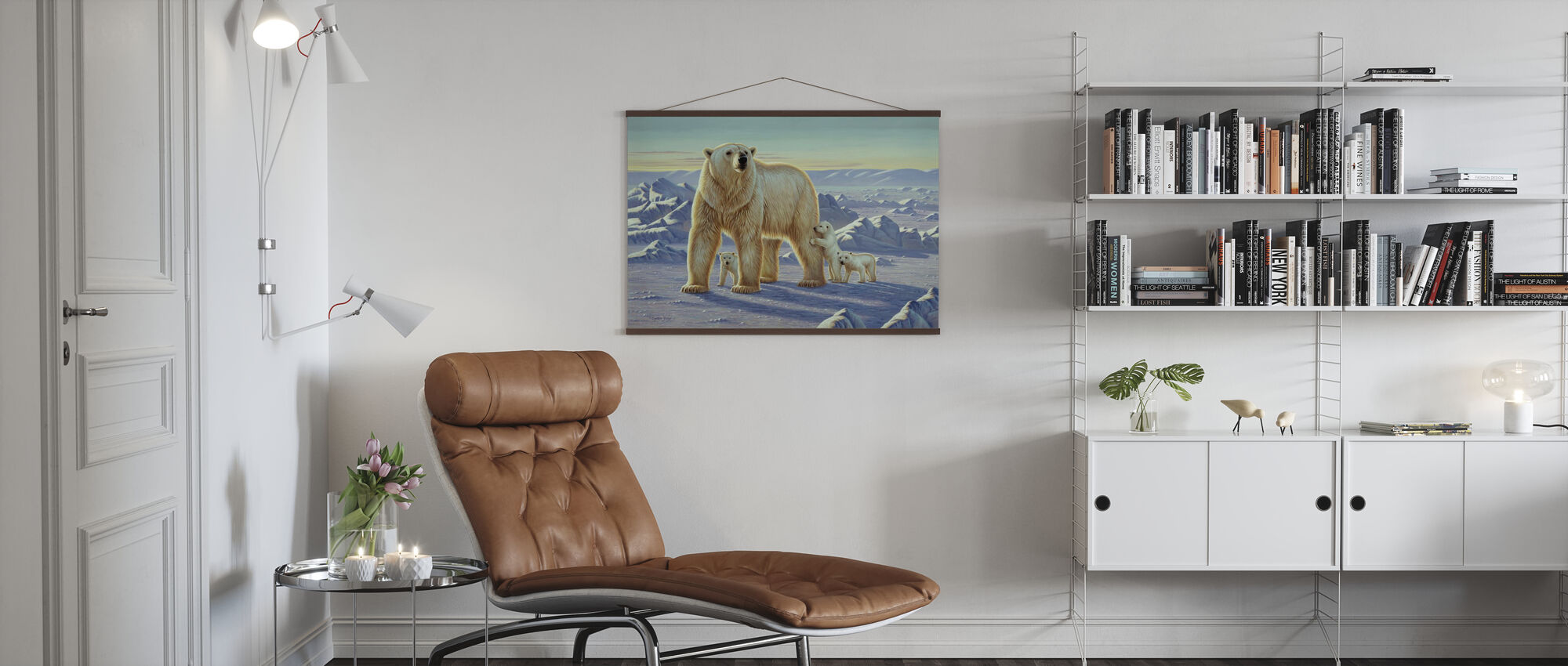 Polar Bear with Cubs - Poster - Living Room