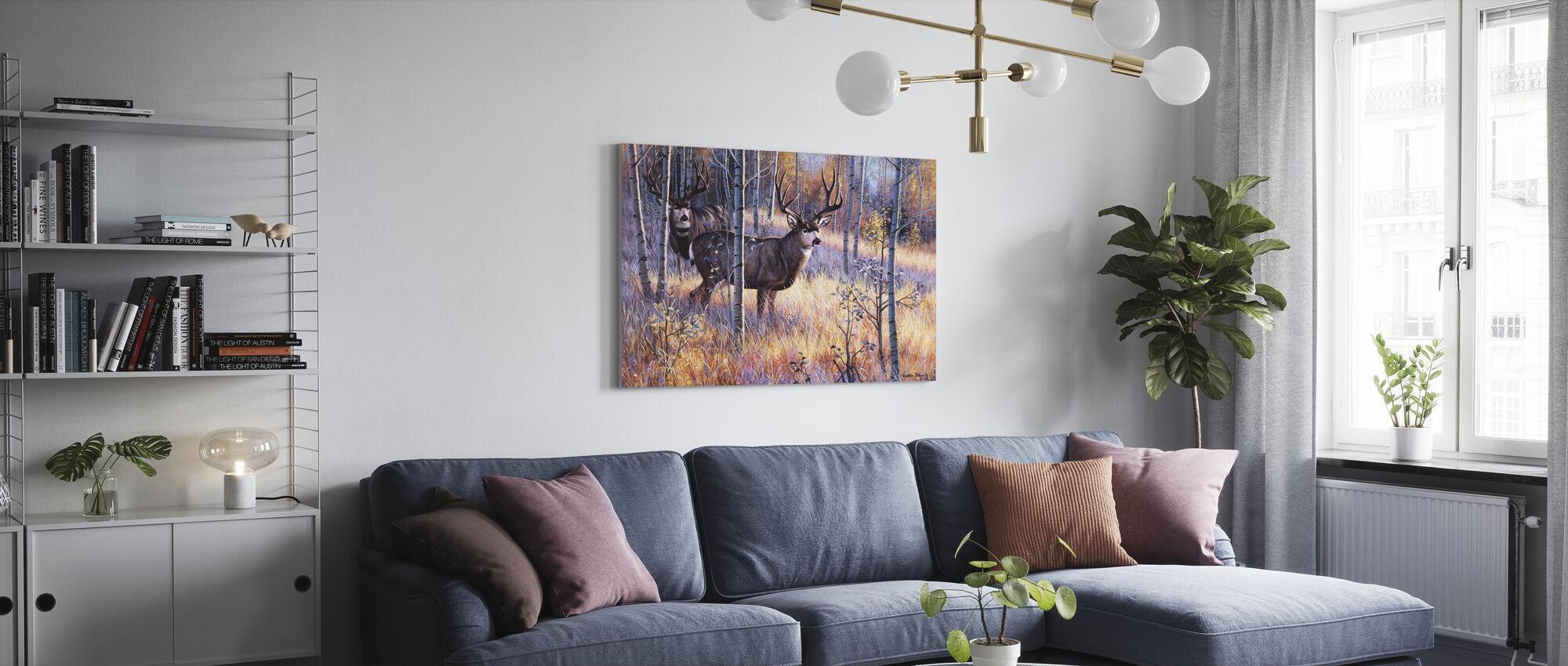 The Elusive Ones - Canvas print - Living Room