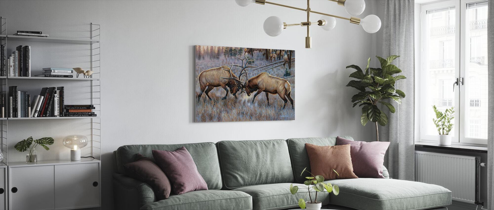 The Battle - Canvas print - Living Room