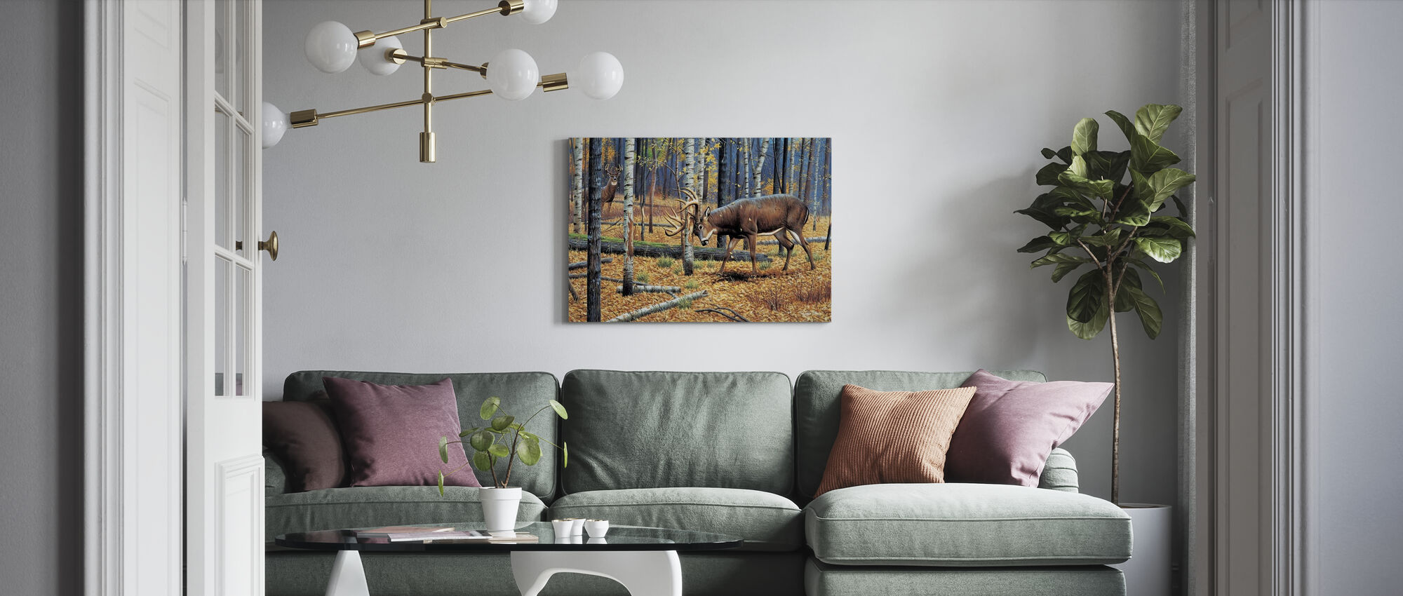 Territorial Grounds - Canvas print - Living Room