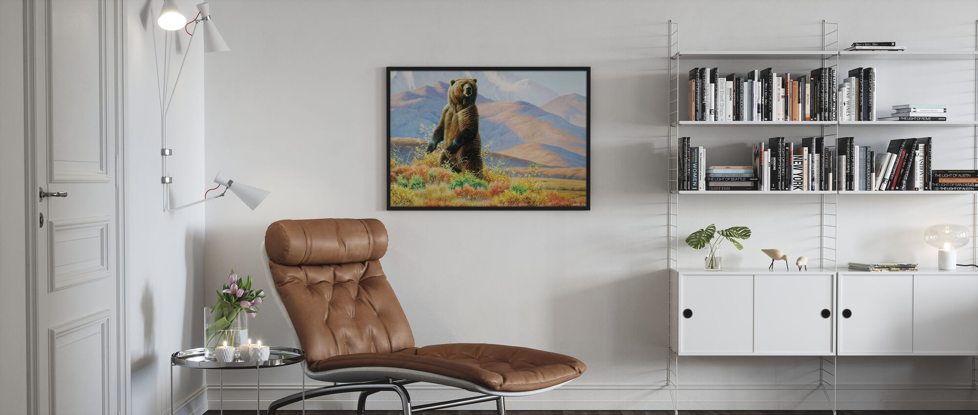 Big Griz in Tundra - Poster - Living Room