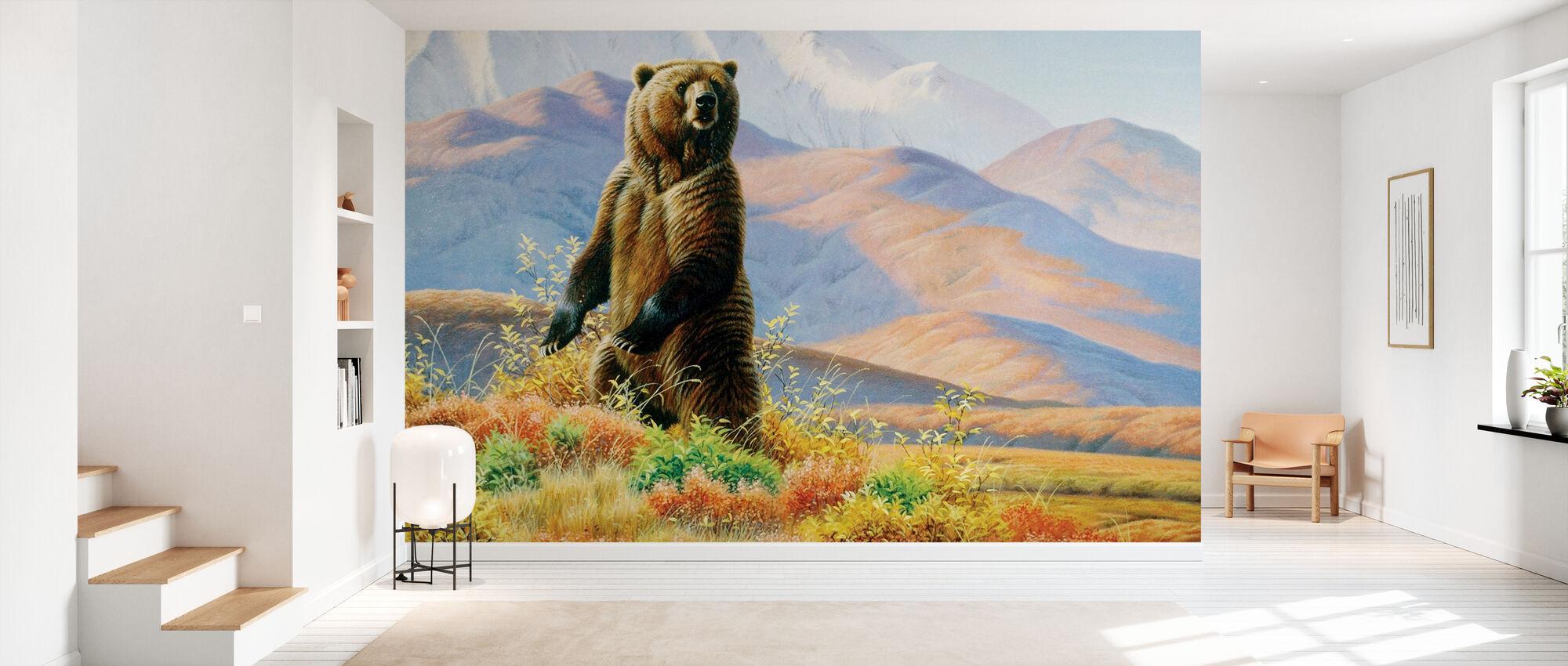 Big Griz in Tundra - Wallpaper - Hallway