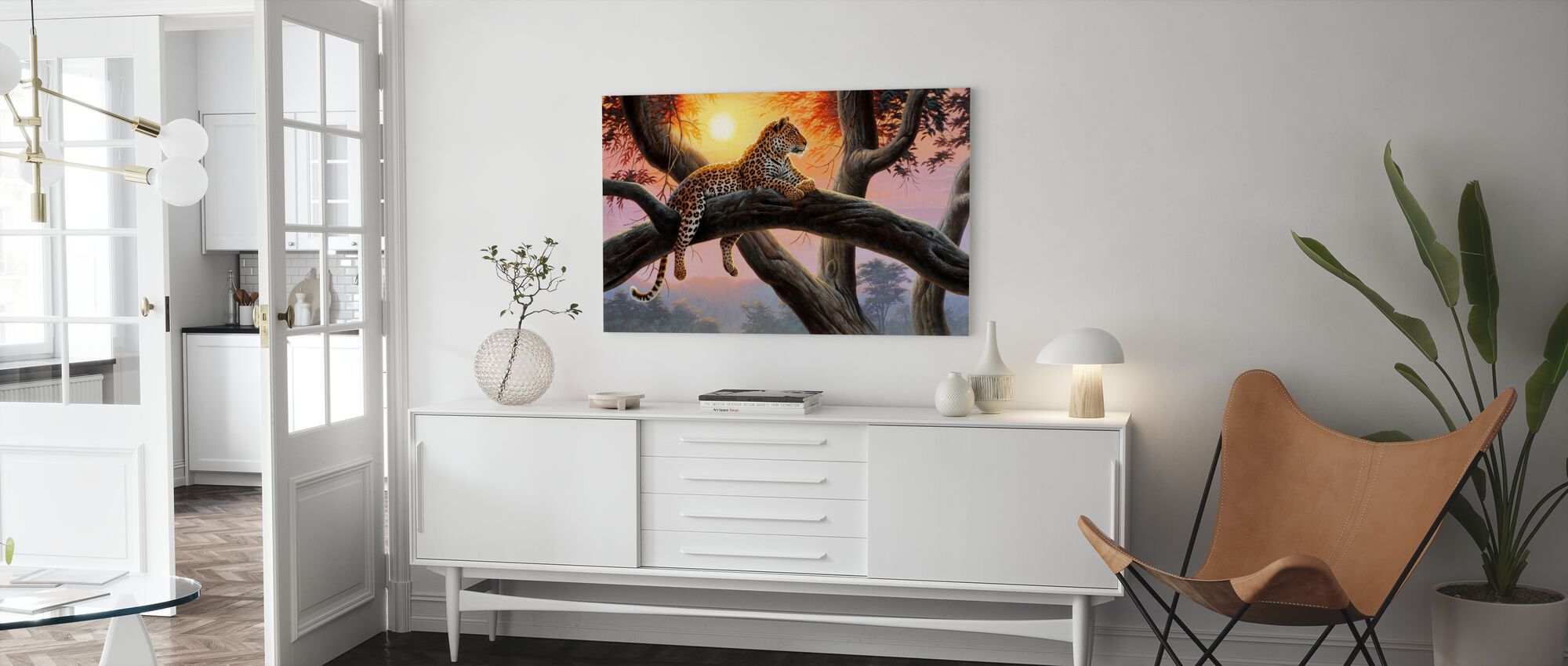 Evening Watch - Leopard - Canvas print - Living Room