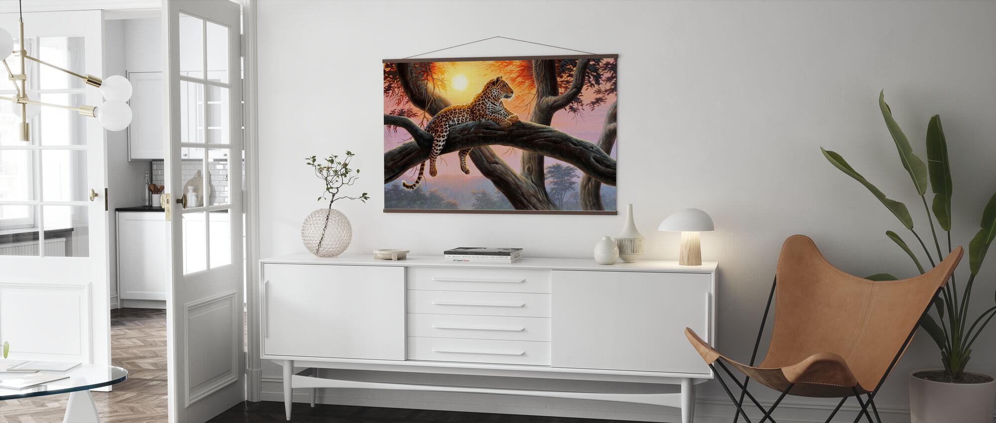 Evening Watch - Leopard - Poster - Living Room