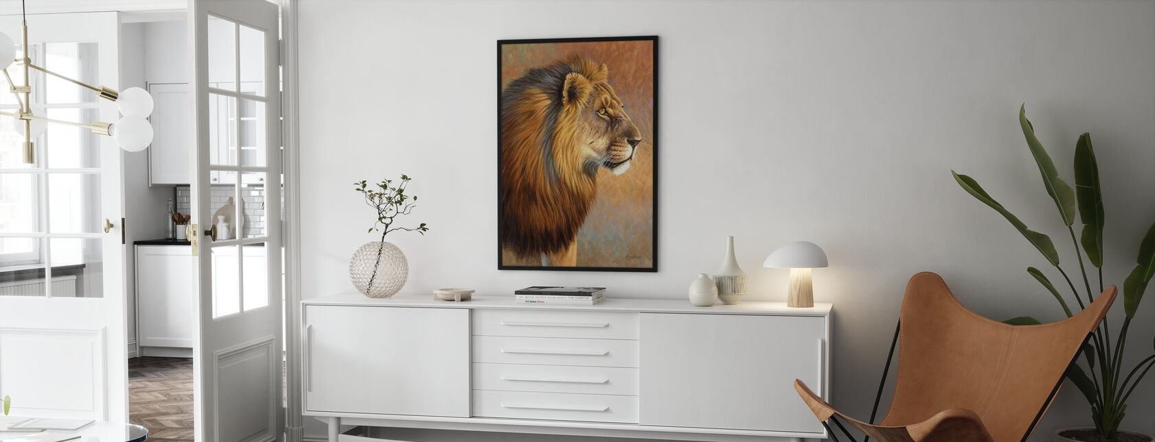 The Old Warrior - Framed print - Living Room
