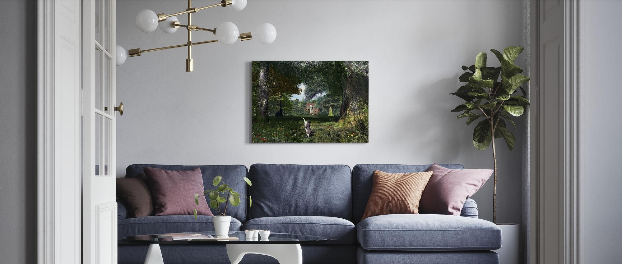 Träd Katt - Canvastavla - Vardagsrum
