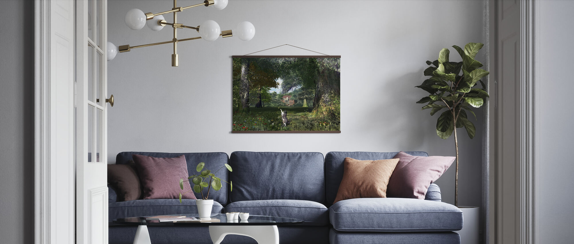 Tree Cat - Poster - Living Room