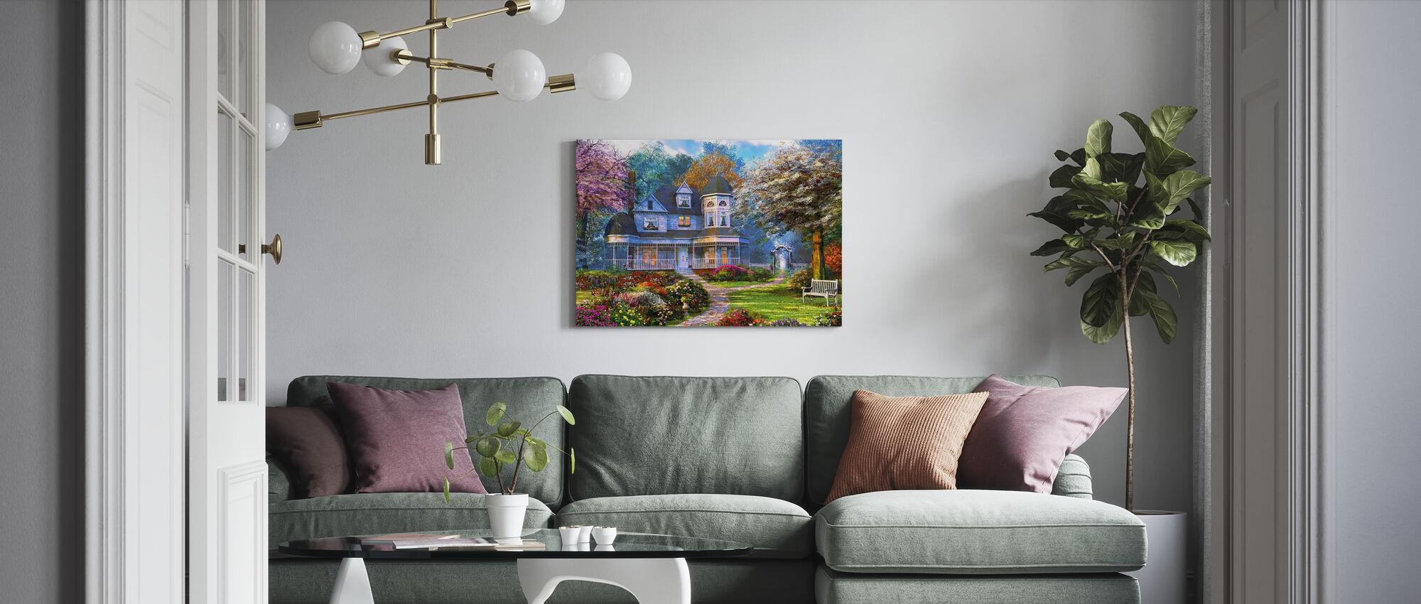 Victorian Home - Canvas print - Living Room