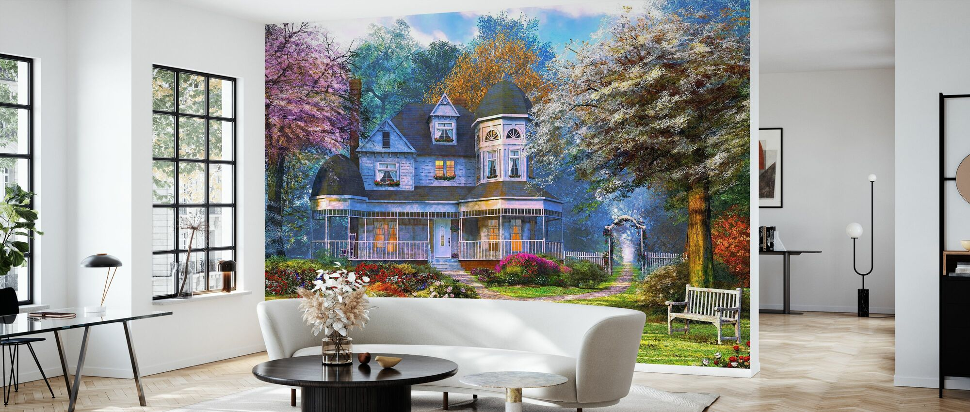 Victorian Home - Wallpaper - Living Room
