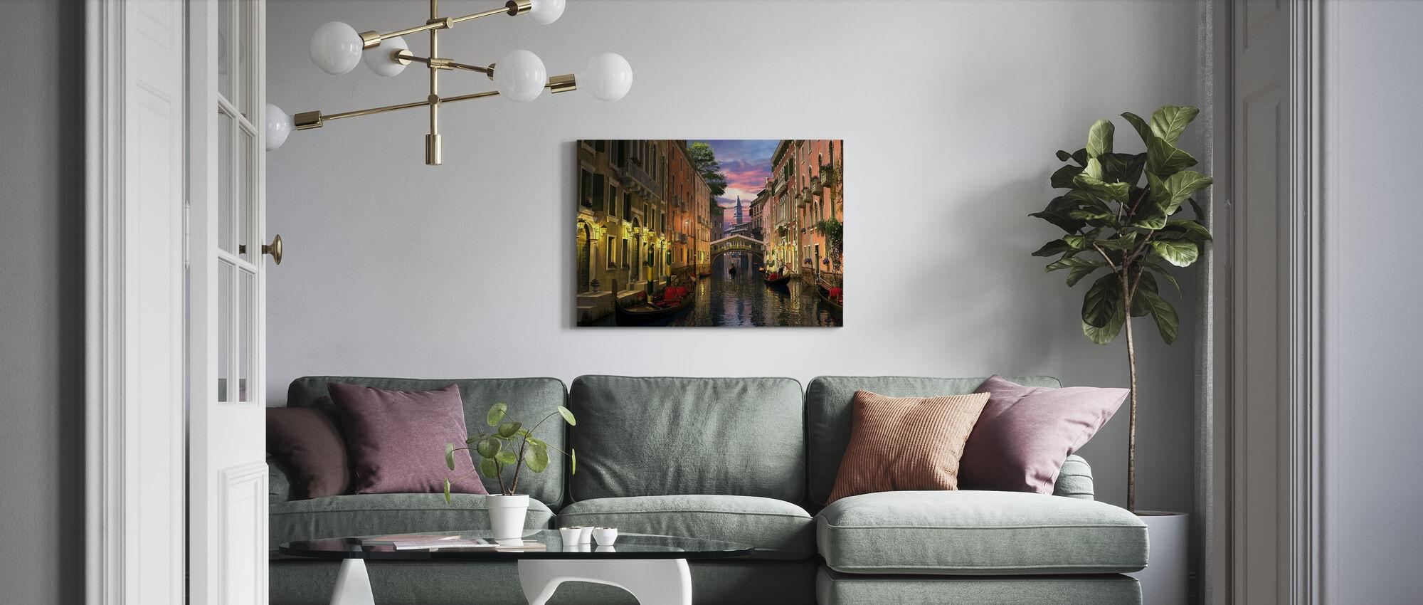 Venice at Dusk - Canvas print - Living Room