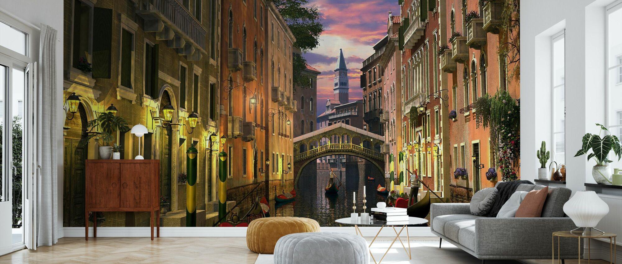 Venice at Dusk - Wallpaper - Living Room