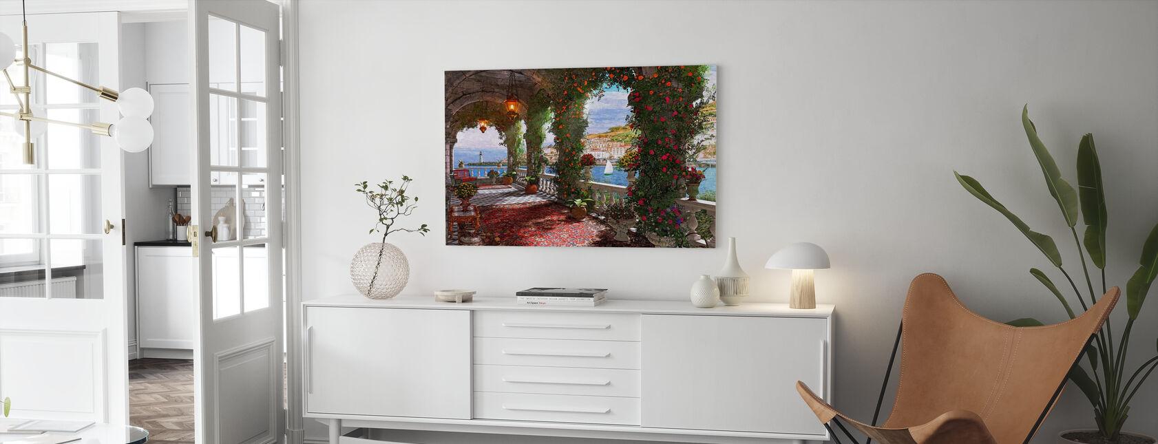 Mediterranean Veranda - Canvas print - Living Room