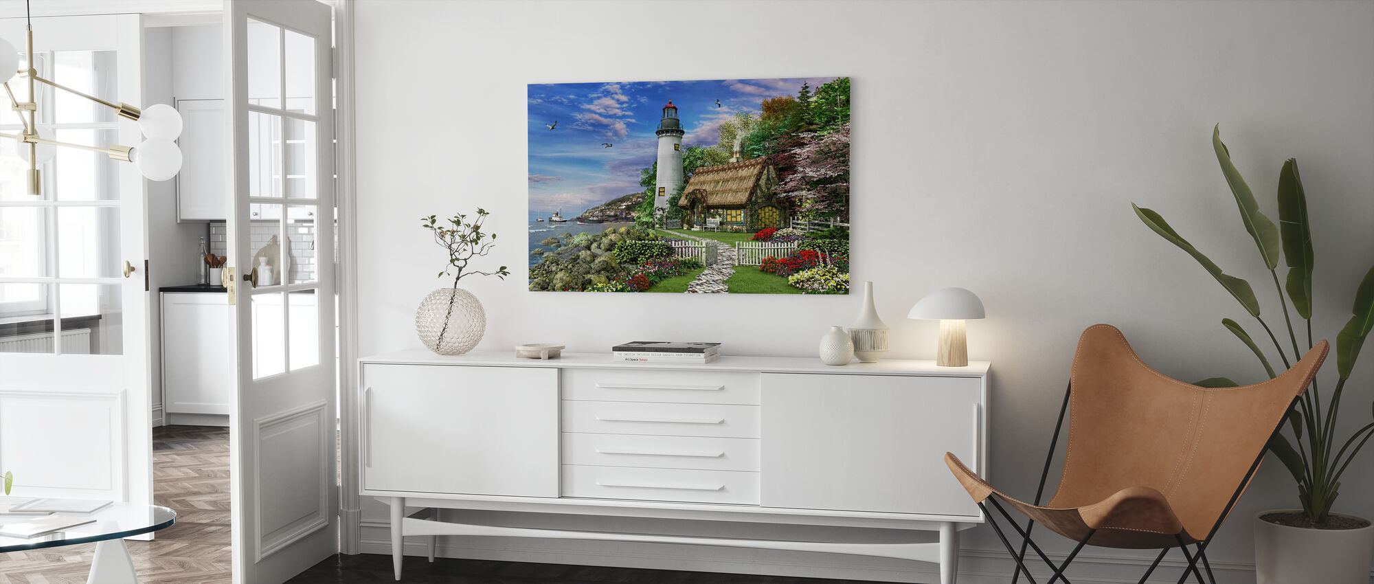 Old Sea Cottage - Canvas print - Living Room