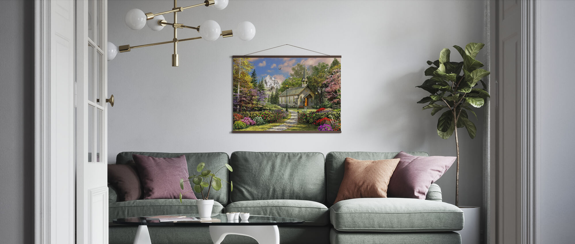 Mountain View Chapel - Poster - Living Room
