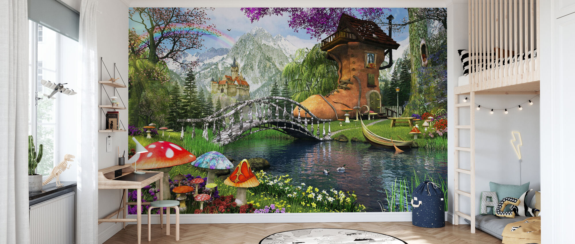 The Old Shoe House - Wallpaper - Kids Room