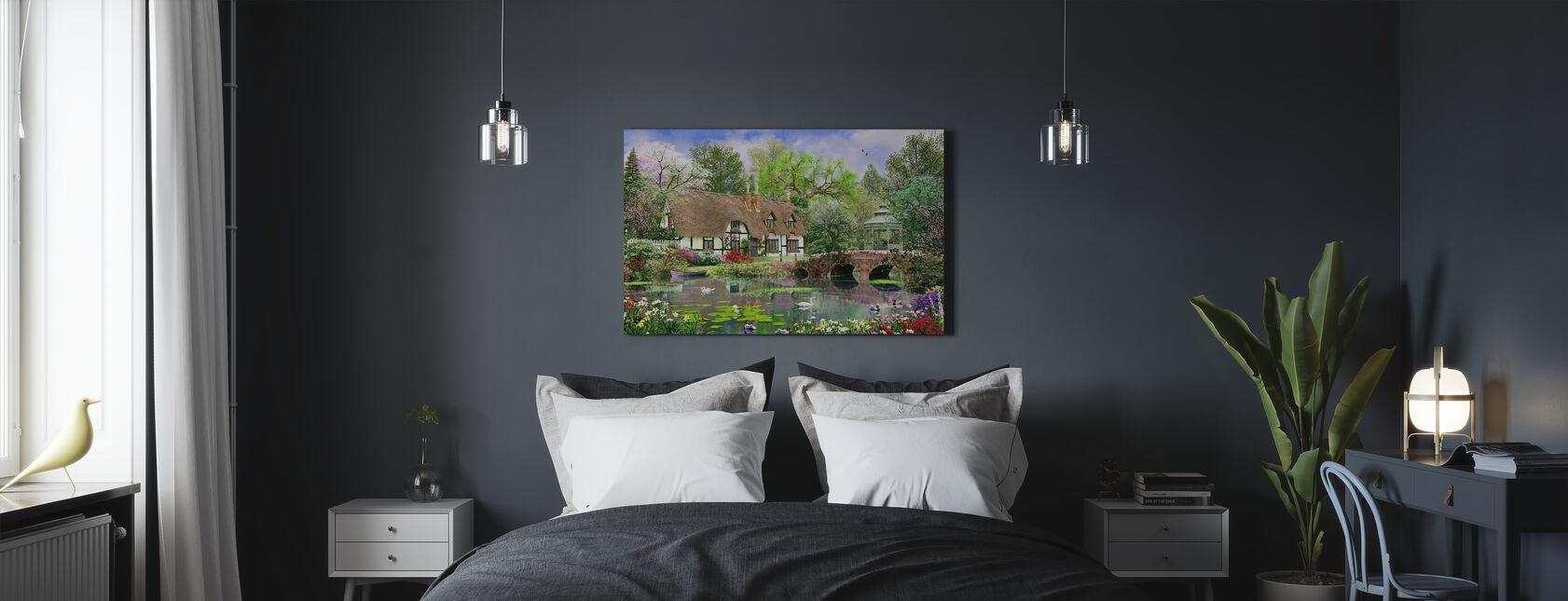 April Cottage - Canvas print - Bedroom