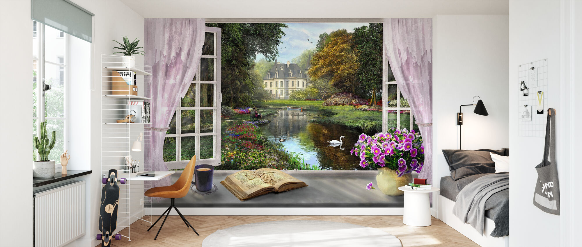 Window with a View - Wallpaper - Kids Room