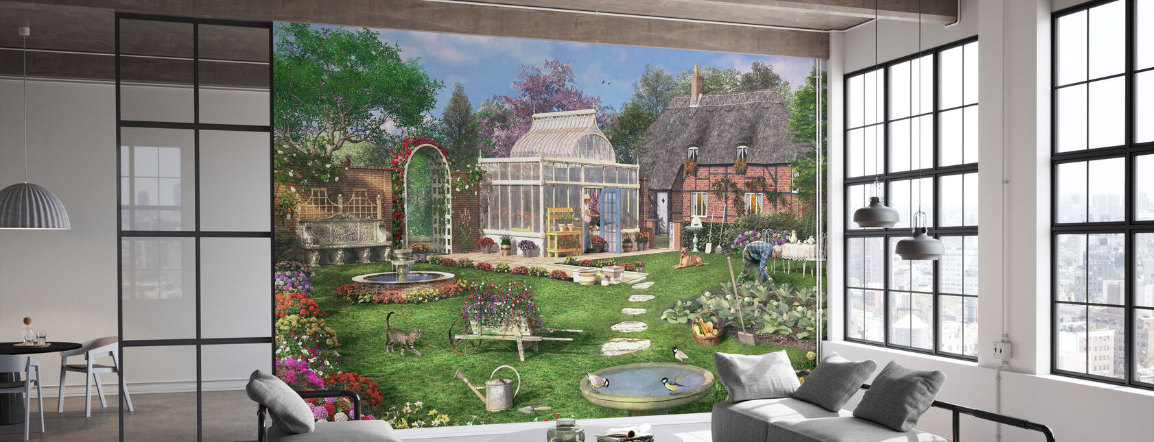 The Cottage Garden - Wallpaper - Office