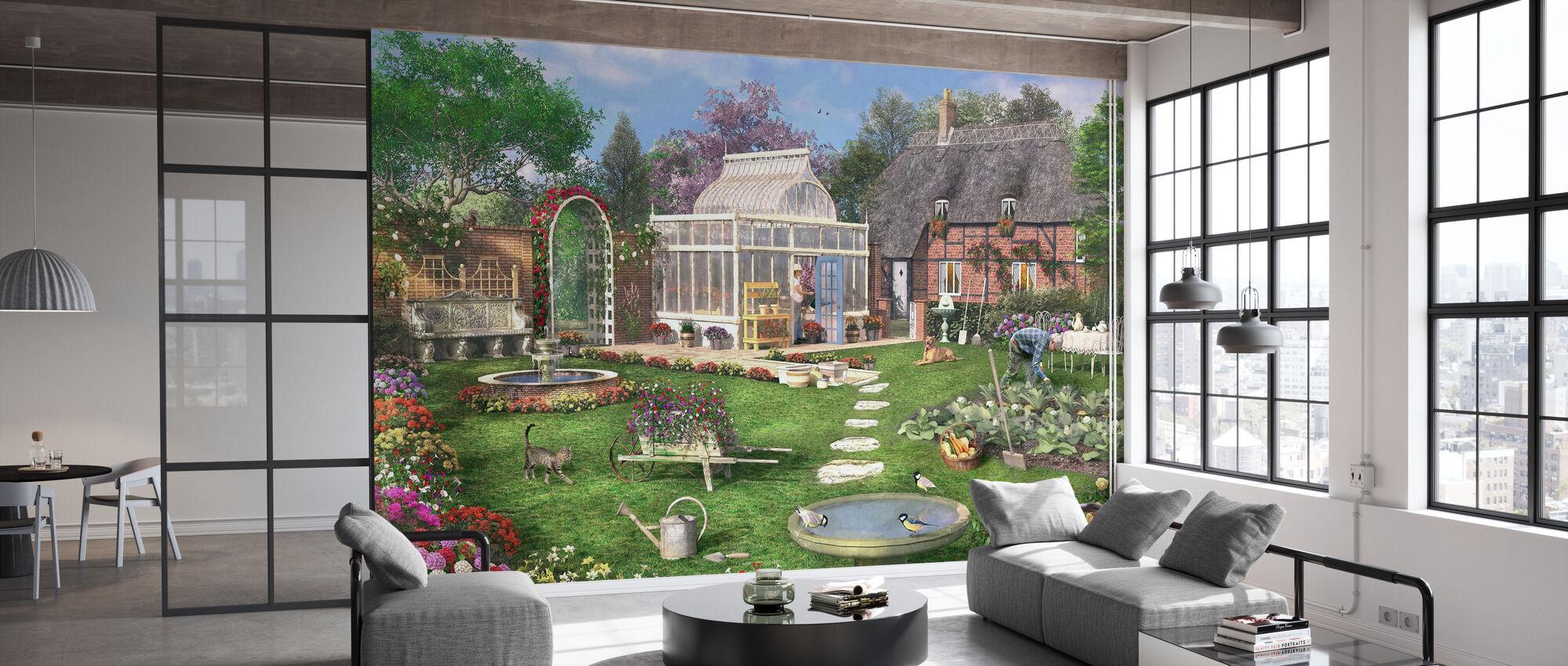 The Cottage Garden - Wallpaper - Office