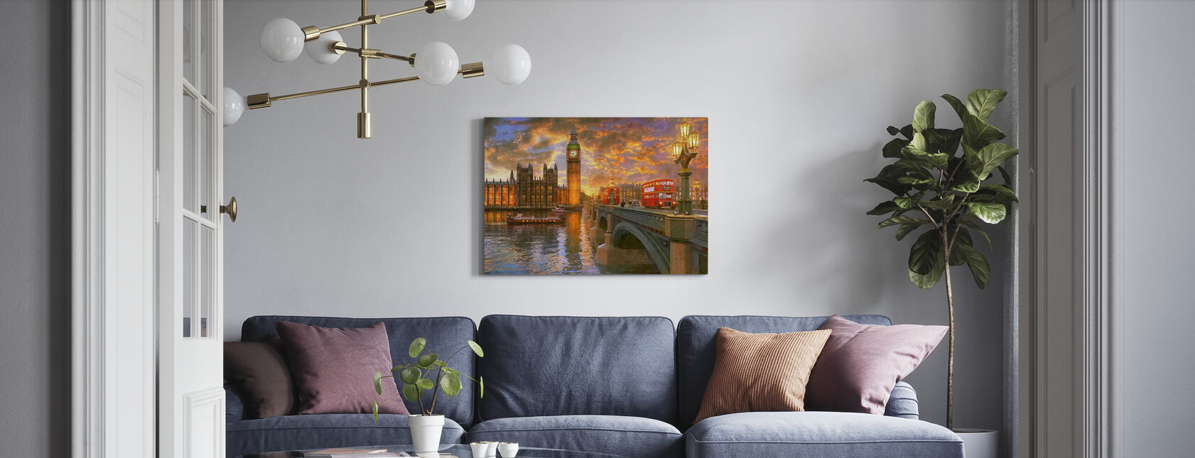 Westminster Sunset - Canvas print - Living Room