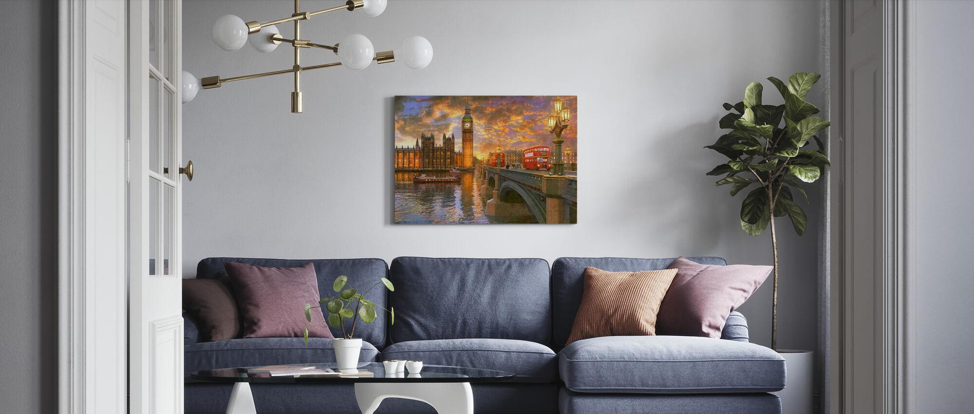 Westminster Sunset - Canvastavla - Vardagsrum