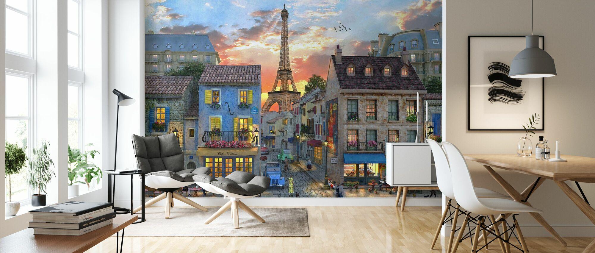 Streets of Paris - Wallpaper - Living Room