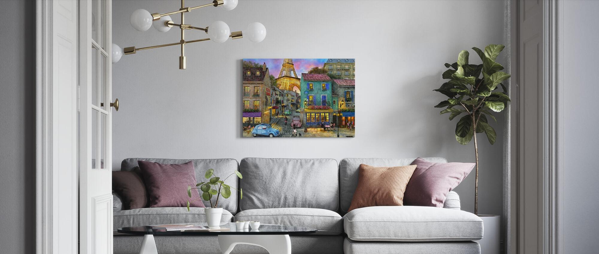 Paris gator - Canvastavla - Vardagsrum