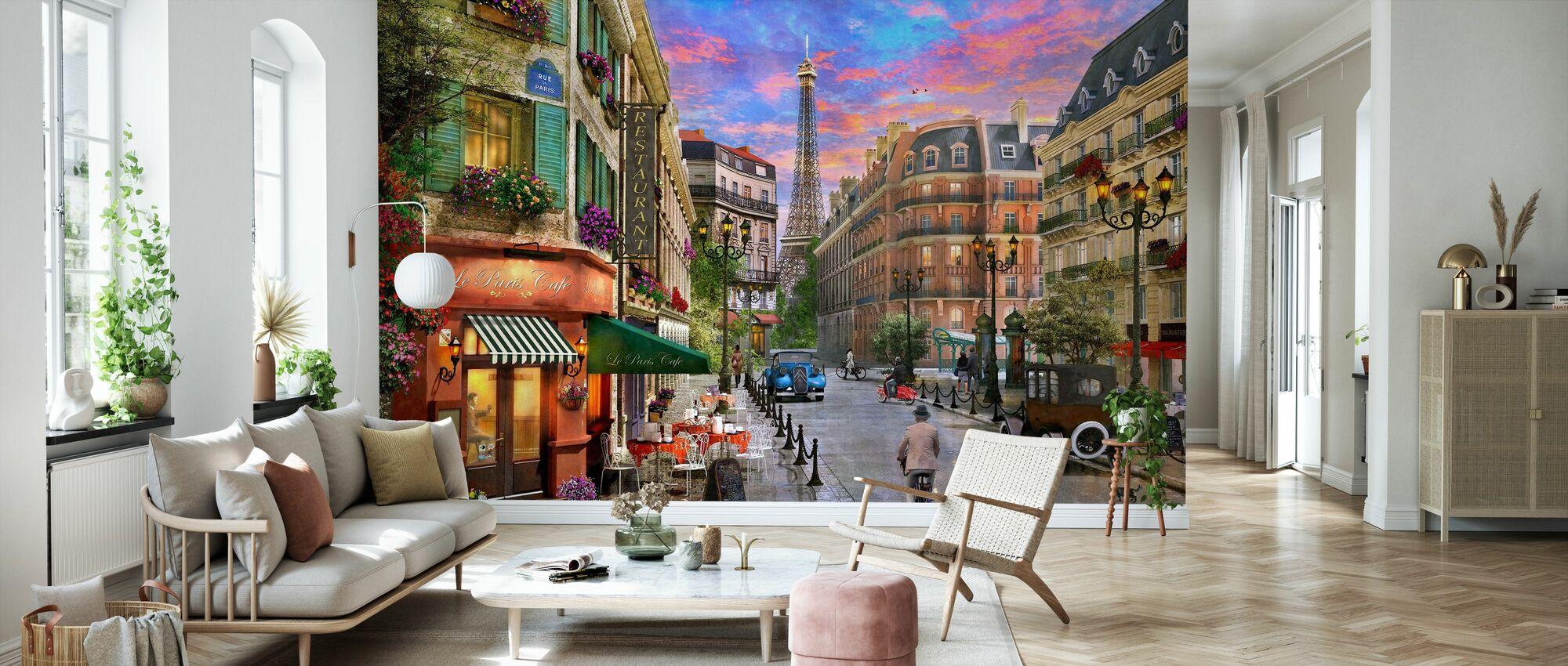 Paris Street - Wallpaper - Living Room