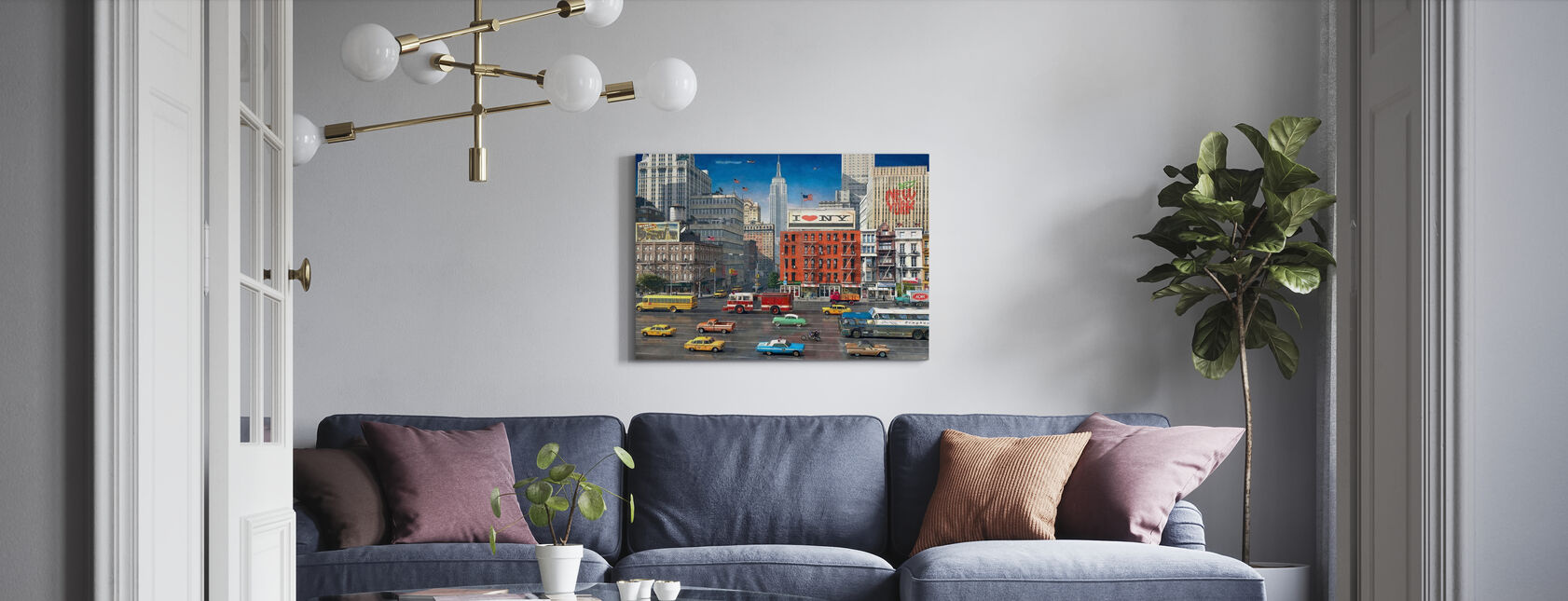 Streets of NYC - Canvas print - Living Room