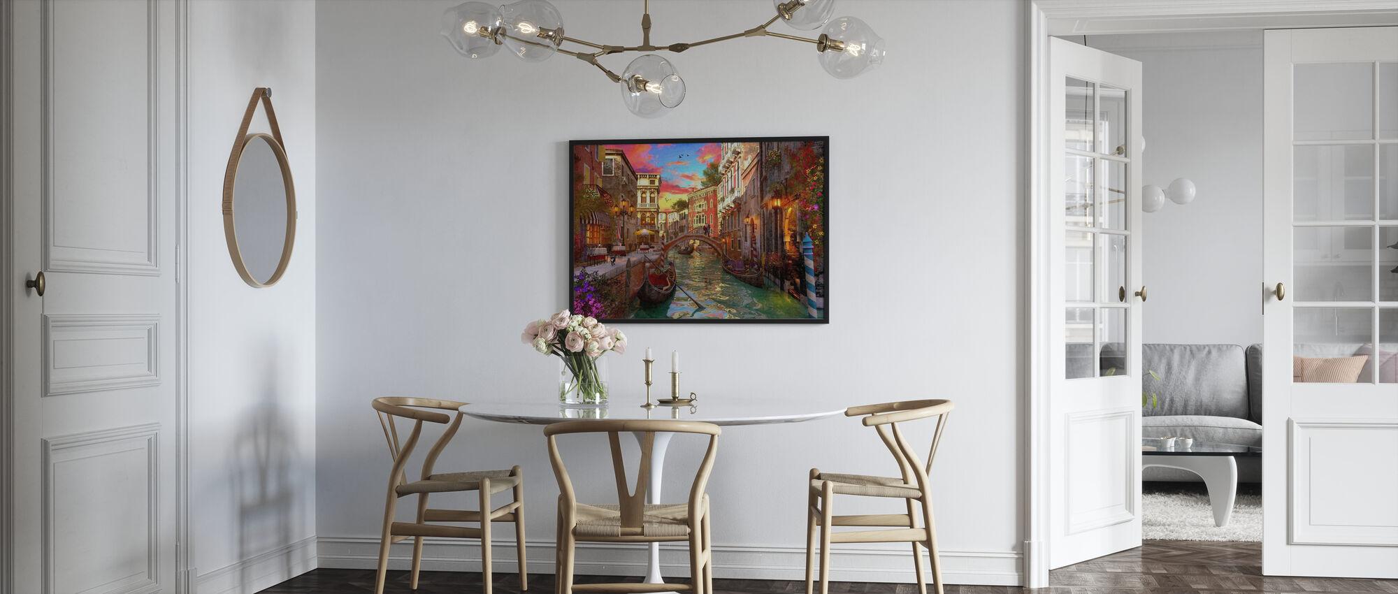 Venezia romantikk - Innrammet bilde - Kjøkken