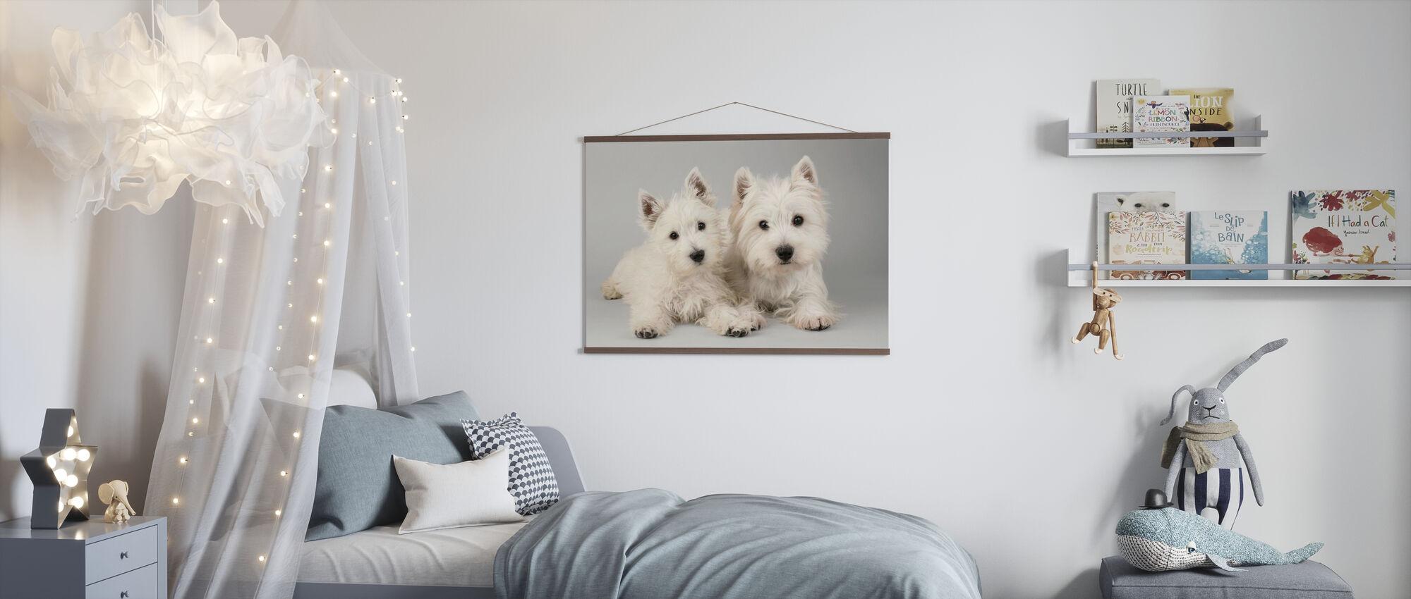 Two Westies - Poster - Kids Room